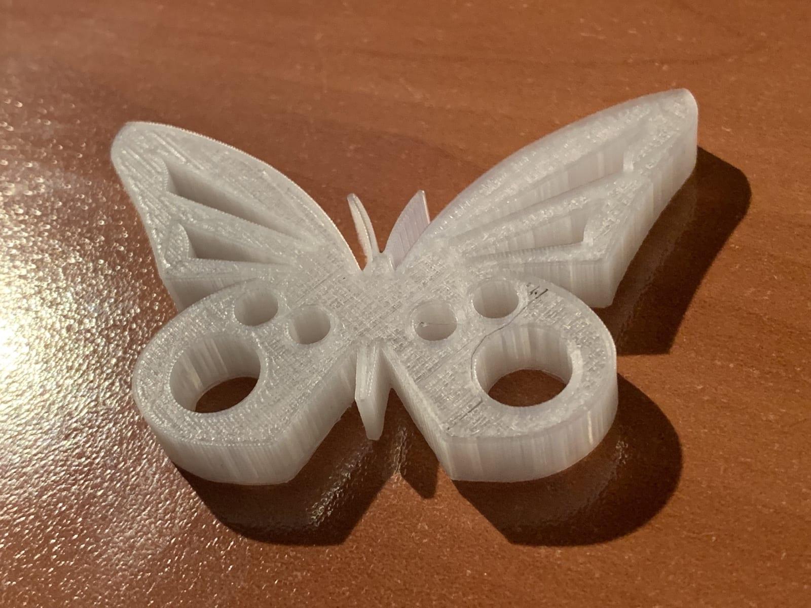 Monoprice 3d Test Print Butterfly