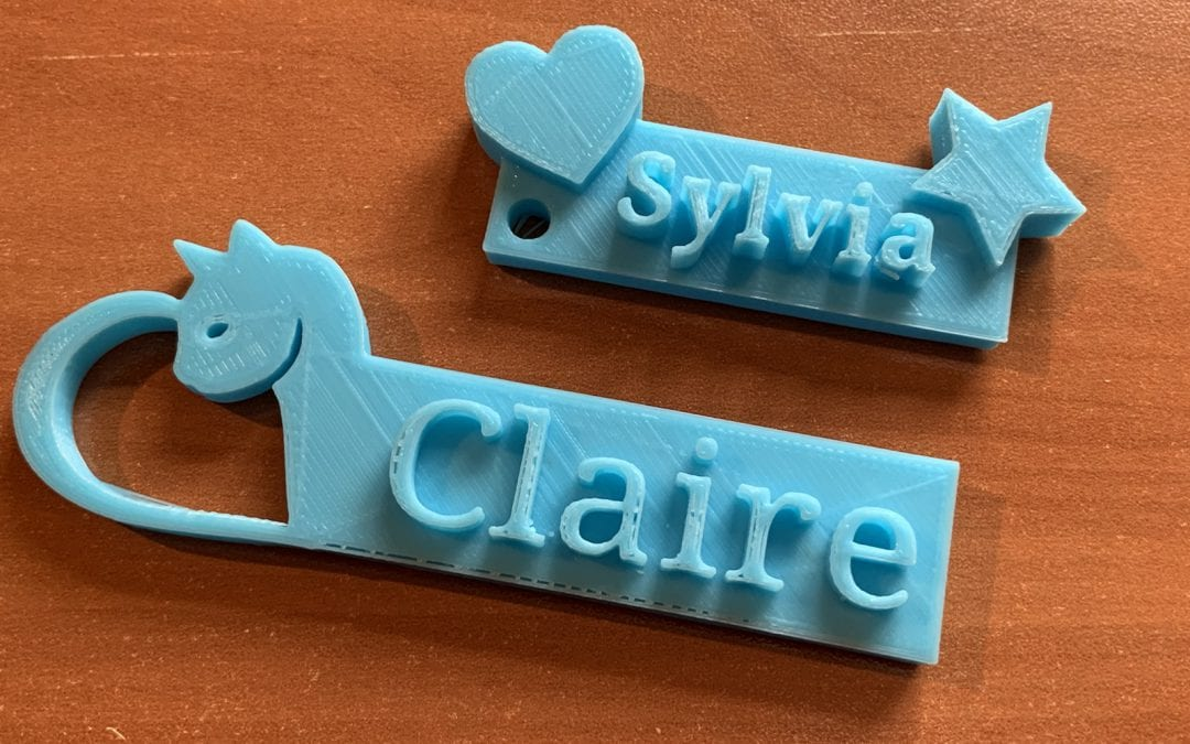 3D Name tags